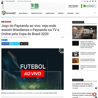 Jogo do Paysandu ao vivo- veja onde assistir Brasiliense x Paysandu na TV e Online pela Copa do Brasil 2020