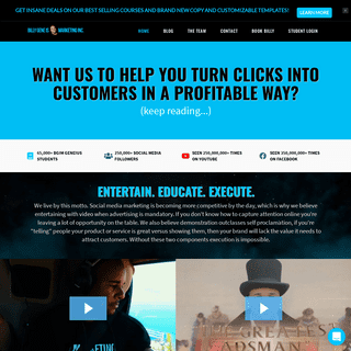 Billy Gene Is Marketing - We Teach Entrepreneurs How To Turn Clicks Into Customers