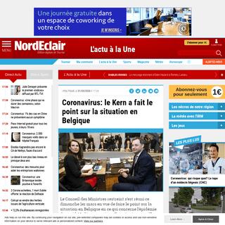 Coronavirus- le Kern a fait le point sur la situation en Belgique - Édition digitale de Tournai