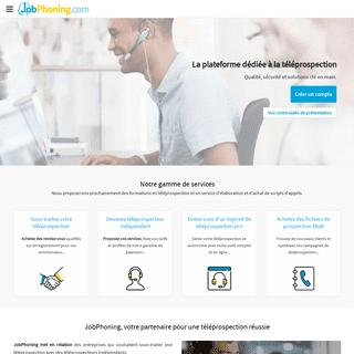 JobPhoning - La plateforme dédiée à la téléprospection