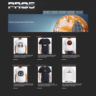 Pro5 T shirts, clothing, hats, hoodies, caps and more...