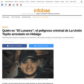 """Quién es """"El Lunares""""- el peligroso criminal de La Unión Tepito arrestado en Hidalgo - Infobae"""