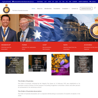 The Order of Australia Association - To foster love of and pride in Australian citizenship and to uphold the high principles and