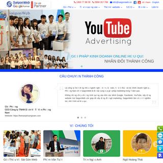 SaigonWeb - Công ty quảng cáo Google, Facebook, Youtube, Thiết kế website uy tín, chuyên nghiệp nhất