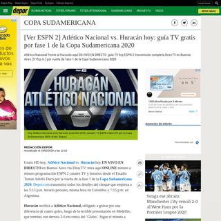 Señal TV ESPN 2, Atlético Nacional vs. Huracán ver EN VIVO en Estadio Tomás Adolfo Ducó- aquí mira minuto a minuto ONLINE