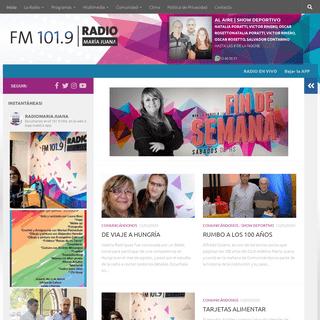 Radio María Juana - FM 101.9 Mhz – María Juana – Santa Fe – Argentina – Sitio Oficial de Radio María Juana - FM 101.9