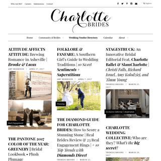 Charlotte Brides - Charlotte Wedding Inspiration, Tips, Ideas, Vendor List