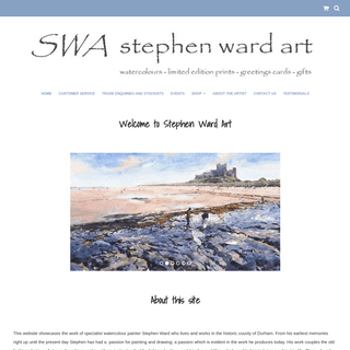 Stephen Ward Art. Original Watercolours, Limited Edition Prints, Greetings Cards and other gift items