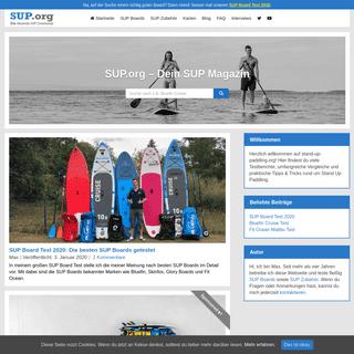 SUP Blog- Mit vielen Testberichten und Ratgebern - stand-up-paddling.org