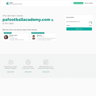 The domain name pafootballacademy.com is for sale