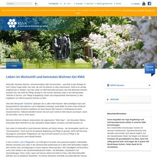 KWA - Kuratorium Wohnen im Alter- Start