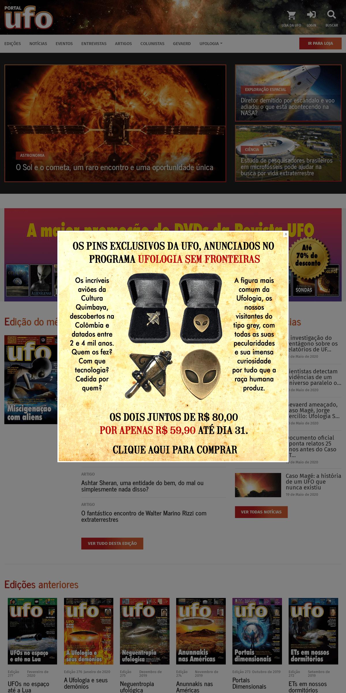 Revista UFO - Portal da Ufologia Brasileira - A mais antiga revista sobre discos voadores do mundo