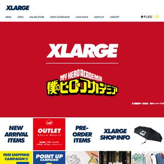 XLARGE OFFICIAL SITE(エクストララージ オフィシャルサイト)