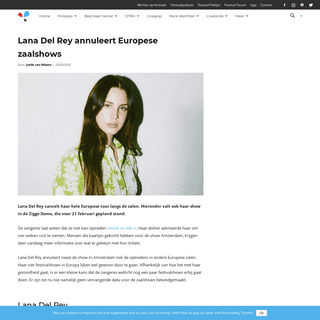 Lana Del Rey annuleert Europese zaalshows - Festileaks.com