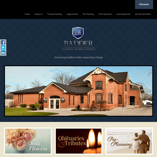 Home - Welcome to Badder Funeral Home serving Thamesville, Bothwell...