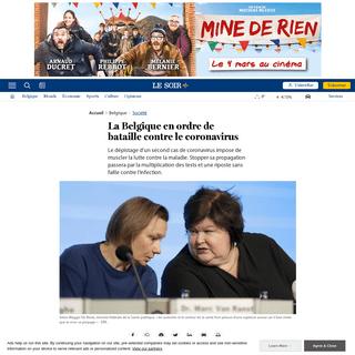 La Belgique en ordre de bataille contre le coronavirus - Le Soir Plus