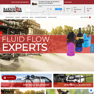 Agricultural Parts & Equipment - Spraying Systems - TeeJet Sprayer Supplies - BarnDoor Ag