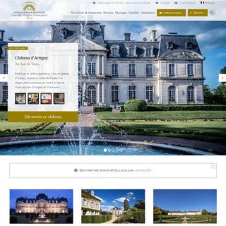 Chateaux-hotels de charme 4 et 5 étoiles en France