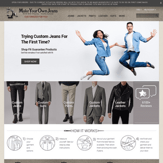 MakeYourOwnJeans®- Made To Measure Custom Jeans For Men & Women, Customize Jeans, Suits, Leathers