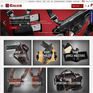 Galco Gunleather- Leather Gun Holsters, Belts, Slings & More