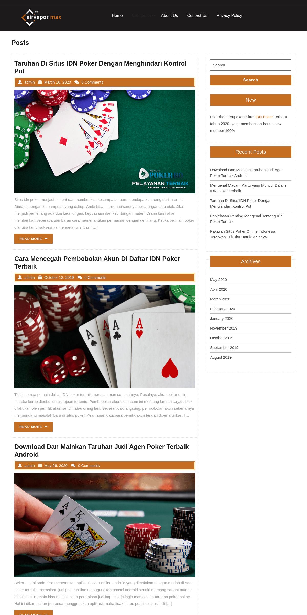 Portal Situs Info Terpercaya Idn Poker Terbaru 2019