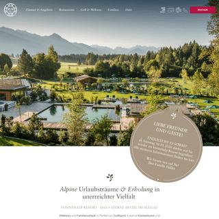 Sonnenalp Resort - Das 5-Sterne-Hotel im Allgäu in Bayern