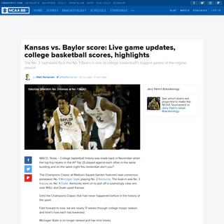 ArchiveBay.com - www.cbssports.com/college-basketball/news/kansas-vs-baylor-score-live-game-updates-college-basketball-scores-highlights/ - Kansas vs. Baylor score- Live game updates, college basketball scores, highlights - CBSSports.com