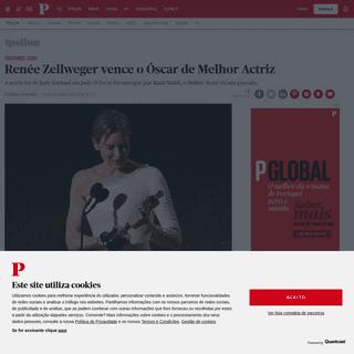 Renée Zellweger vence o Óscar de Melhor Actriz - Óscares 2020 - PÚBLICO