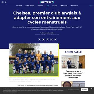 Chelsea, premier club anglais à adapter son entraînement aux cycles menstruels - Le Huffington Post LIFE