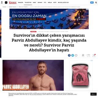 Survivor'ın dikkat çeken yarışmacısı Parviz Abdullayev kimdir, kaç yaşında ve nereli- Survivor Parviz Abdullayev'in hay