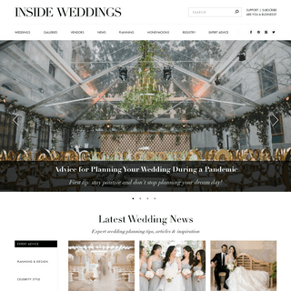 Inside Weddings - Wedding Planning - Wedding Ideas - Real Weddings