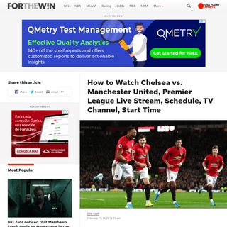 ArchiveBay.com - ftw.usatoday.com/2020/02/how-to-watch-chelsea-vs-manchester-united-premier-league-live-stream-schedule-tv-channel-start-time - Chelsea vs. Manchester United Live Stream- TV Channel, How to Watch