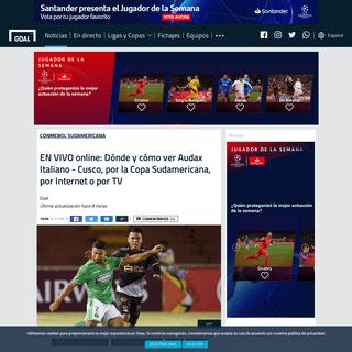 EN VIVO online- Dónde y cómo ver Audax Italiano - Cusco, por la Copa Sudamericana, por Internet o por TV - Goal.com