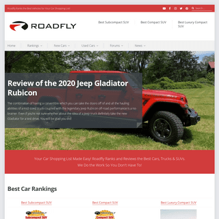 Roadfly Ranks the Best Vehicles for Your Car Shopping List!