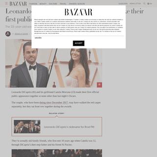 ArchiveBay.com - www.harpersbazaar.com/uk/celebrities/news/a30847914/leonardo-dicaprio-camila-morrone-first-public-appearance/ - Leonardo DiCaprio and Camila Morrone make their first public appearance