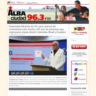 ArchiveBay.com - albaciudad.org - Alba Ciudad 96.3 FM – Emisora de radio del Ministerio del Poder Popular para la Cultura en Caracas, Venezuela