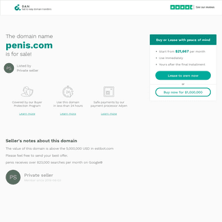 The domain name penis.com is for sale