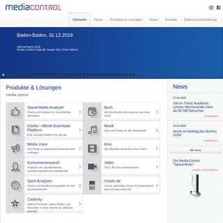 media control - Startseite