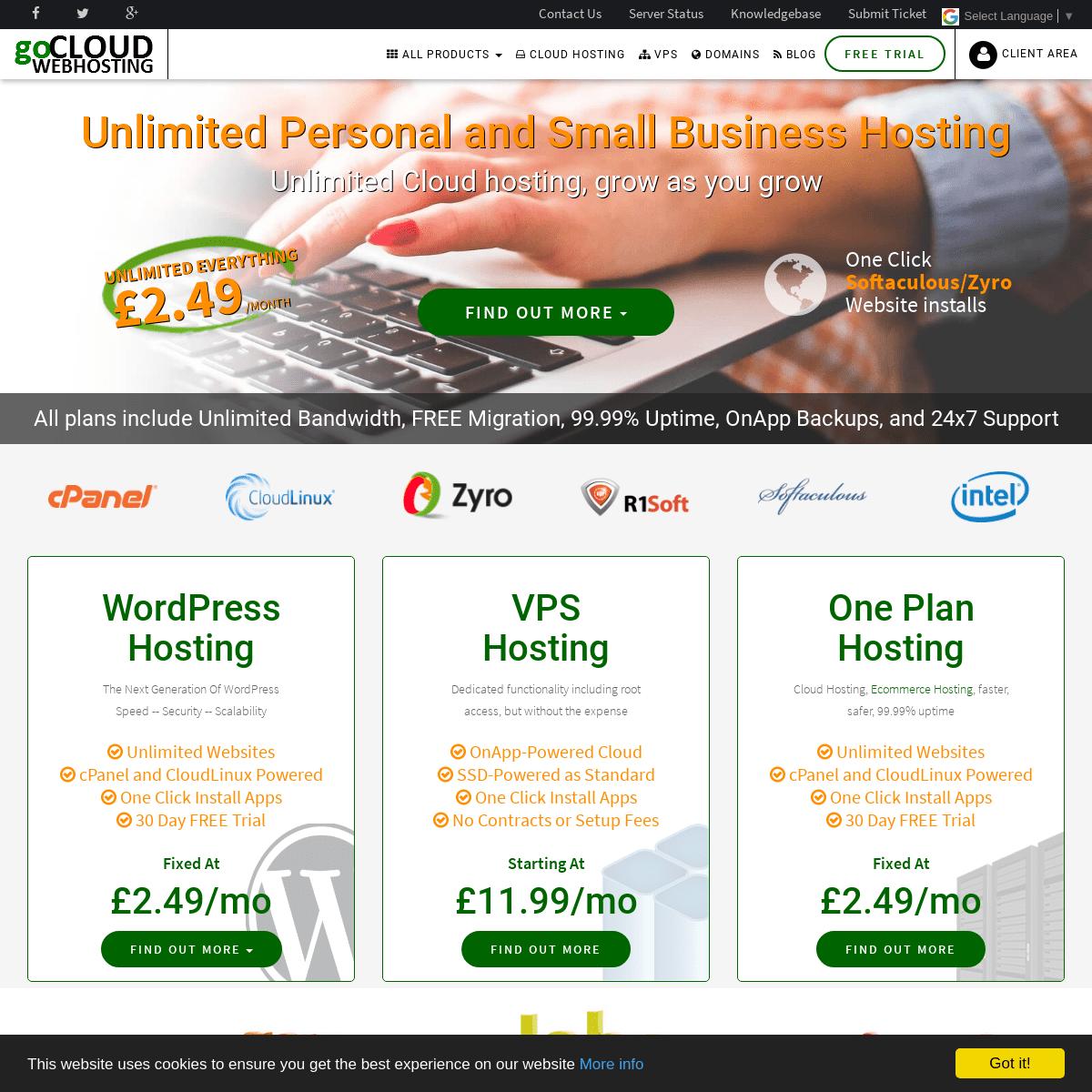 Cheap Cloud Webhosting - goCloud Web Hosting
