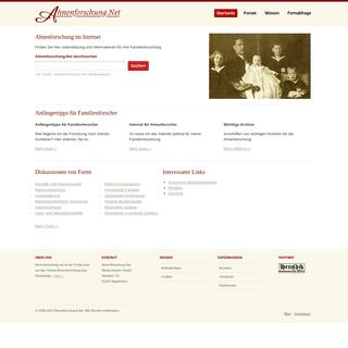 Ahnenforschung. Familienforschung. Genealogie. Ahnenforschung.Net - Das deutsche genealogische Webverzeichnis