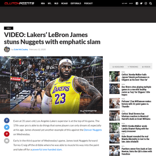 ArchiveBay.com - clutchpoints.com/lakers-video-lebron-james-stuns-nuggets-with-emphatic-slam/ - Lakers video- LeBron James stuns Nuggets with emphatic slam