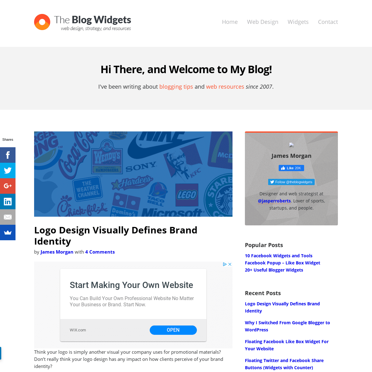 Best Blog Widgets For Free - Web design, strategy, and resources.