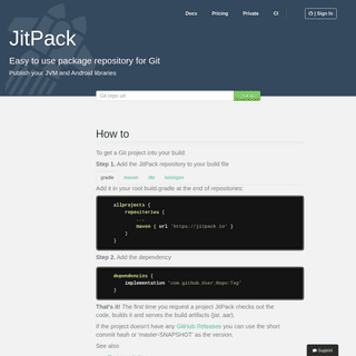 JitPack - Publish JVM and Android libraries