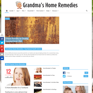 Grandmas Home Remedies For Health and Household
