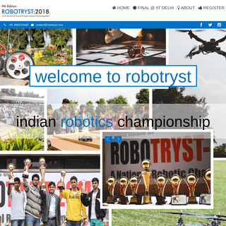 Welcome To RoboTryst 2018 – Robotics workshops association with IIT Delhi & Tryst 2018