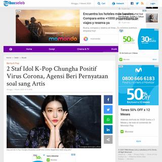 2 Staf Idol K-Pop Chungha Positif Virus Corona, Agensi Beri Pernyataan soal sang Artis - Tribunnews.com