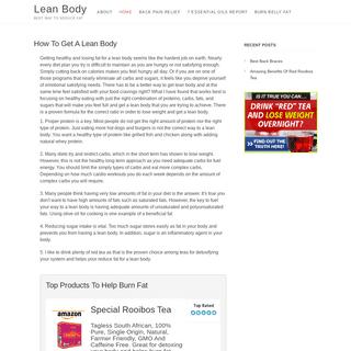 Lean Body – Best Way To Reduce Fat