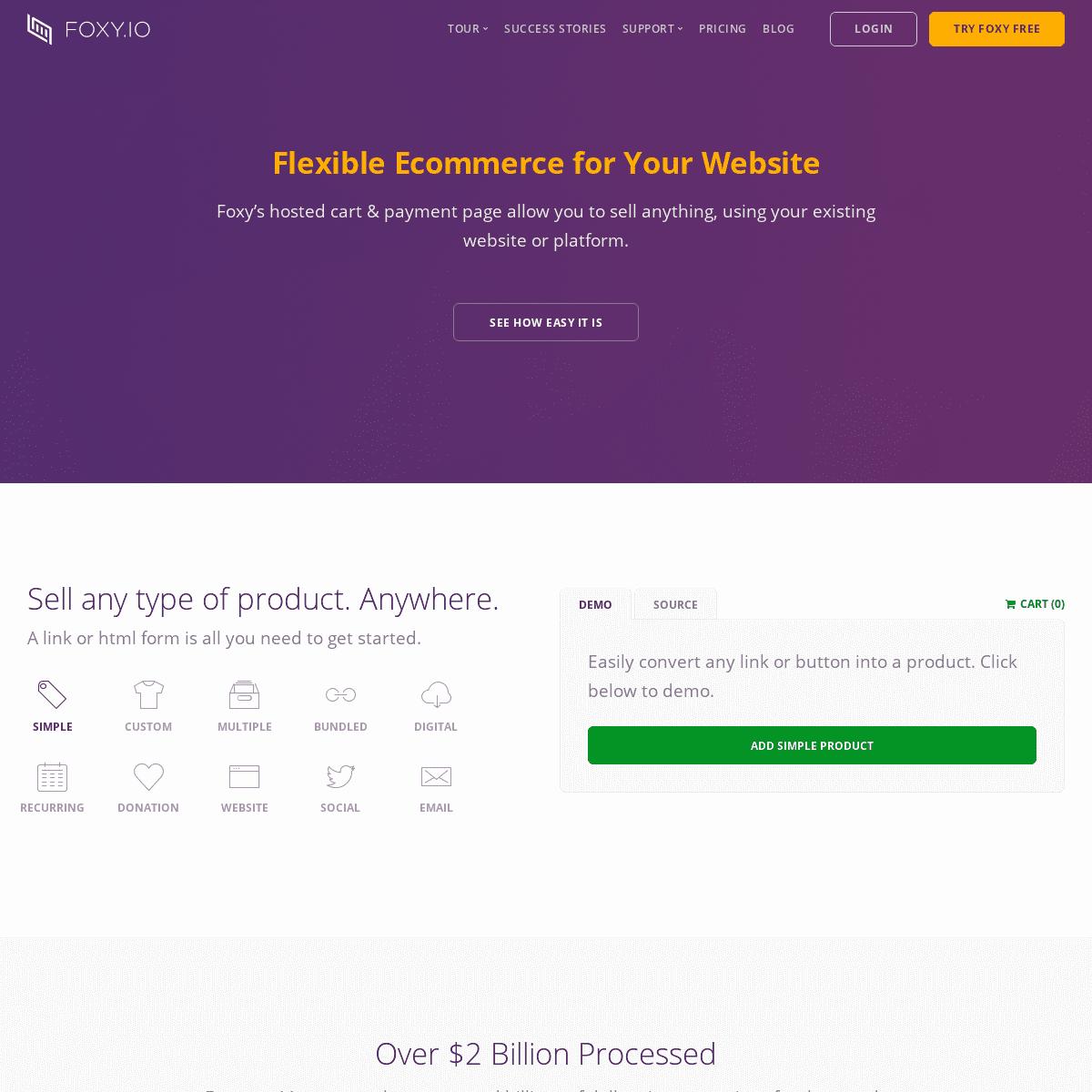 ArchiveBay.com - foxy.io - Foxy.io - Flexible Ecommerce for Your Website