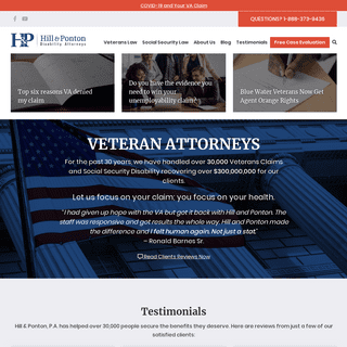 ArchiveBay.com - hillandponton.com - Nationwide Veterans Disability Lawyers - Hill & Ponton