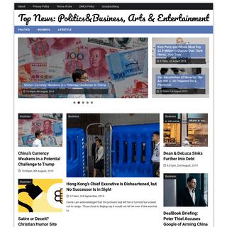 Top News- Politics&Business, Arts & Entertainment